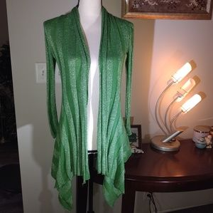 Inc Ribbed Knit Draped Cardigan